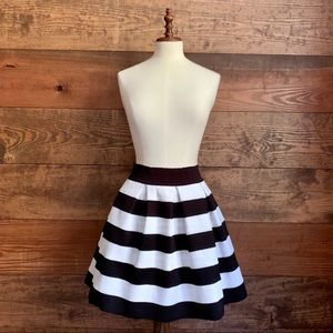 NWT Express Black & White Striped Skirt
